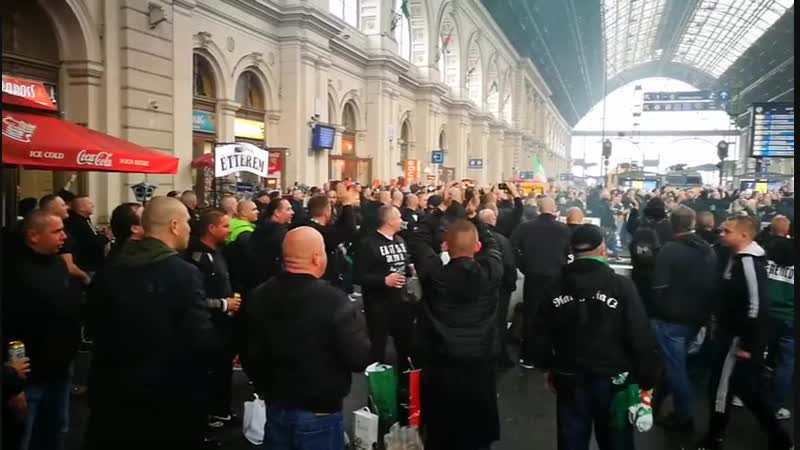 DVTK - FTC 27.10.2018   Ferencváros gathering before train