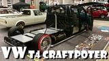 Volkswagen VW T4 flatbed Bus Kick ass build by Modcars.net Craftpoter Built Story Overhaulin