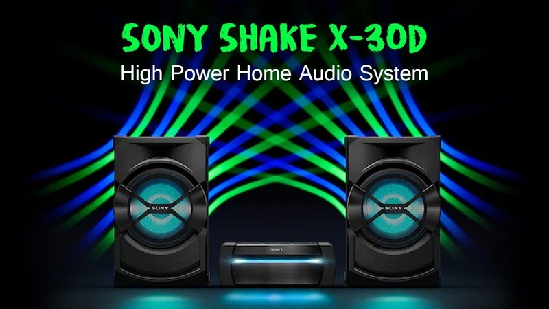Sony Shake X30D High Power Home Audio System Bluetooth Speaker DJ Karaoke and Hifi Music System