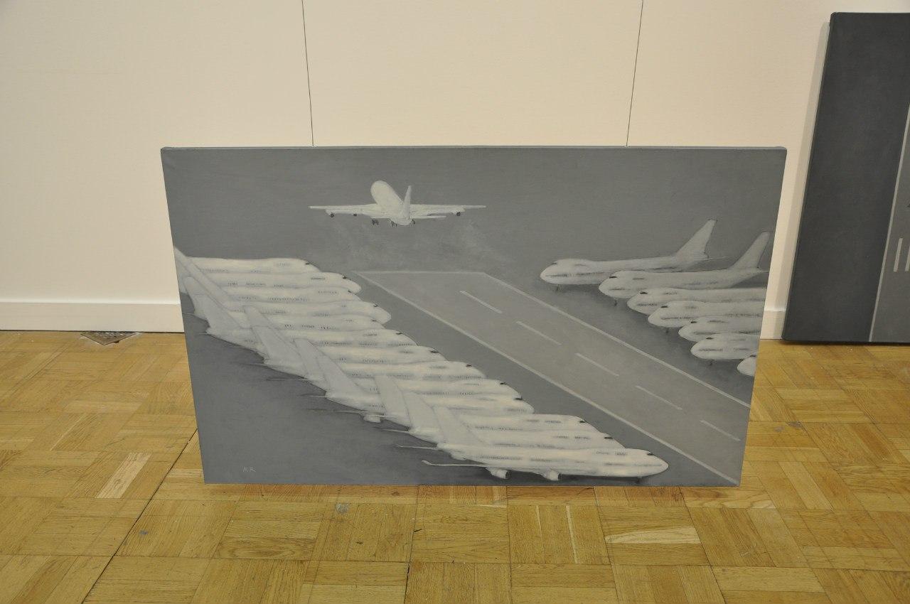 Союз художников Латвии  Роналдс Русманис (р. 1981)  Выводя. 2010  Холст, масло
