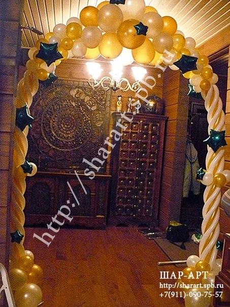 оформление шарами на новогоднии праздники