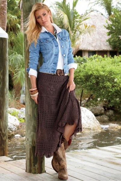 Шикарная юбка крючком (7 фото) - картинка