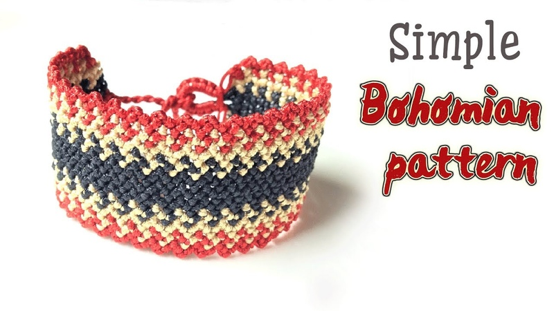 Very simple Boho style Macrame bracelet tutorial for men - Hướng dẫn làm vòng tay Boho nam đơn giản