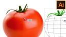 Сетчатый градиент 🍅 Mesh Tool Как нарисовать помидор Томат Уроки Adobe Illustrator Урок 18