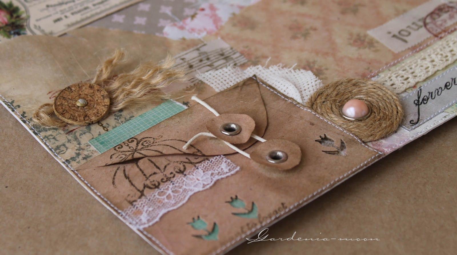 Для альбины, открытки с крафт бумагой скрапбукинг