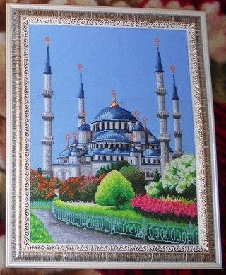 Голубая мечеть бисером