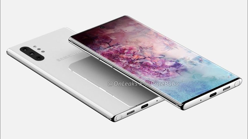 ✏ Рендер Samsung Galaxy Note 10 Pro 4 камеры 6 75 дюймовый дисплей ИК порт без 3 5 аудиоджека