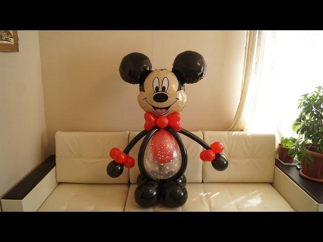 Самый простой и быстрый Микки Маус из шаров. The easiest and quickest of Mickey Mouse balloons.