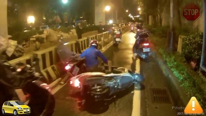 Мотоциклическое столкновение, вождение в Азии 2018 Часть 5