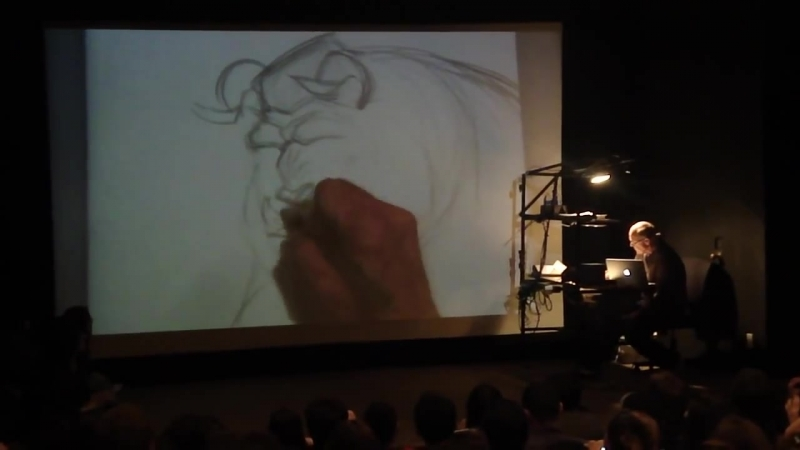 Glen Keane draws Beast @ CalArts