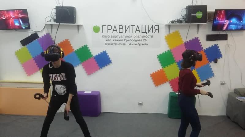2018 12 04 Юля и Ваня рубят кубики в Гравитации