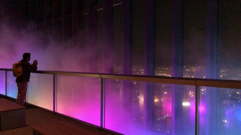 ミッドランドスクエア スカイプロムナード 噴霧
