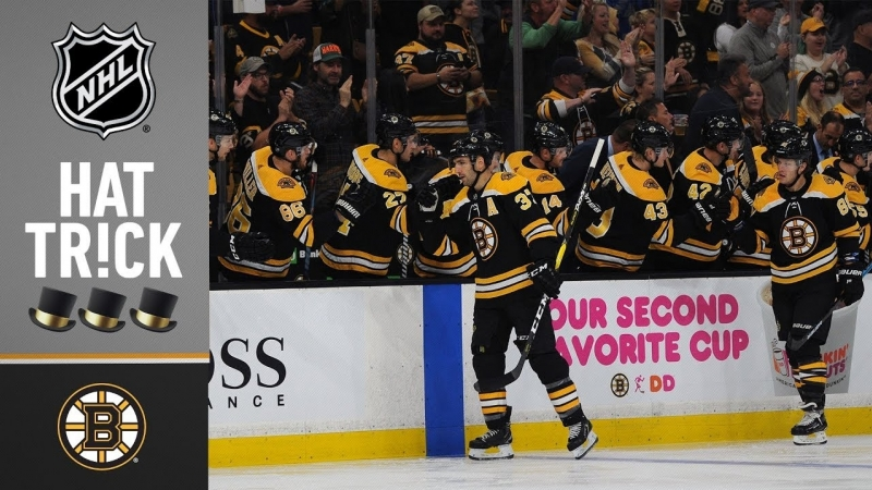 Patrice Bergeron collects his fourth career hatty in Bostons home-opening win