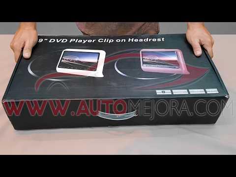 Como instalar las pantallas DVD Player Clip on headrest de 9