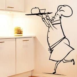 Трафареты в декоре кухни
