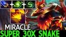 Miracle Shadow Shaman Super 30x Snake Destroy Pub Game 7 20 Dota 2