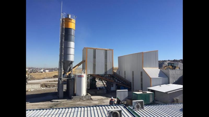 Ins makina 160 m3 hour mobile concrete batching plant. Beton santrali. Centrales a beton. Beton santralleri