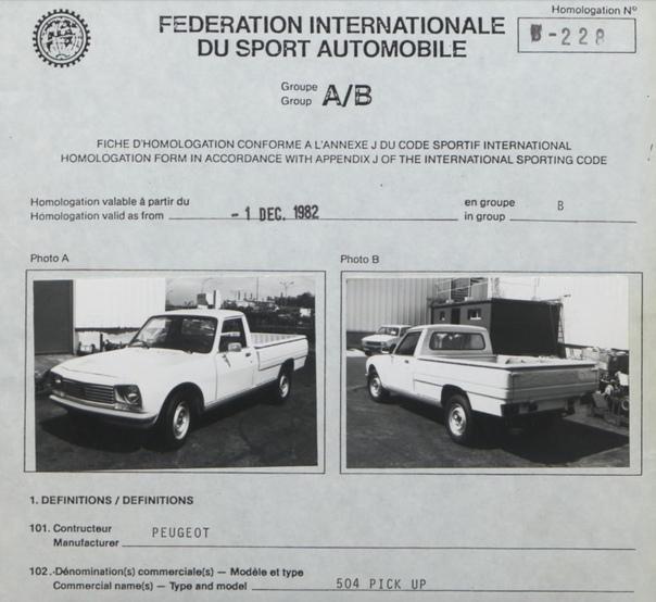 Пикапы для группы B Интересный факт: FIA в 80-е годы провела омологацию сразу трех пикапов по раллийной группе B, которой относились самые мощные раллийные автомобили за всю историю WRC. Это