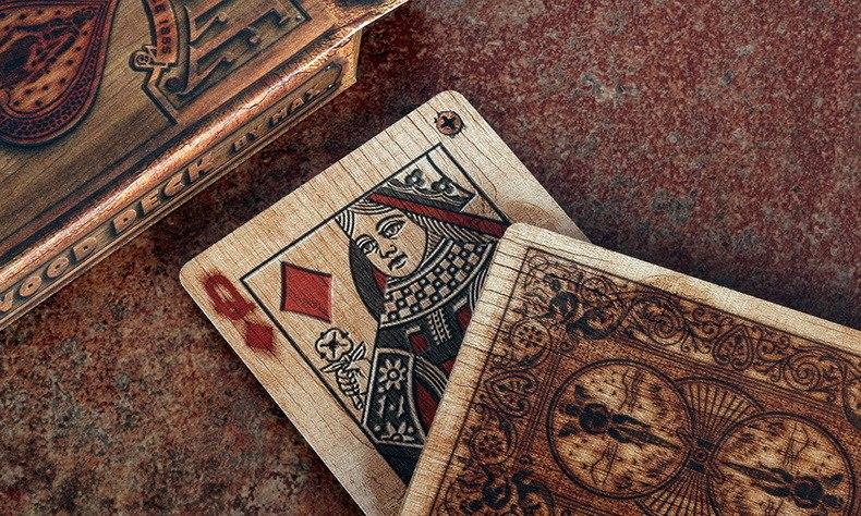 Деревянные игральные карты -