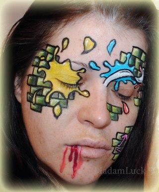 Визажист макияж боди арт