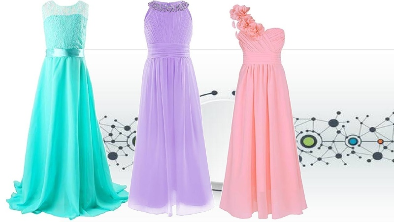 LONG DRESS GOWN DESIGN images for Girls Kids 2019 Party Wear Long Dresses Design Prom dress images