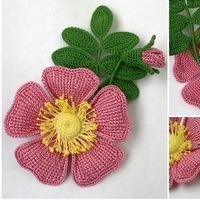 вязание крючком схема цветы вконтакте