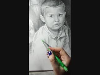 я рисую портрет