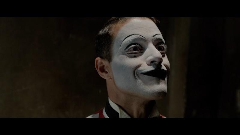 Rami Malek as mime in Papillon (2017)