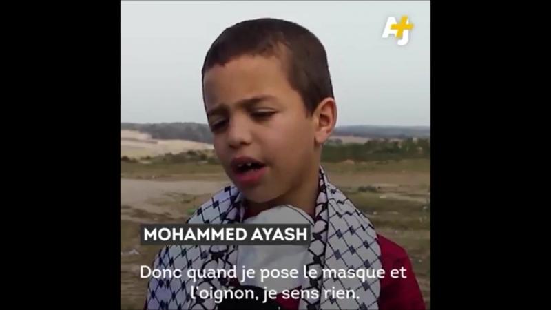 Palestine Science Vie Un petit Gazaoui met au point son propre masque à gaz