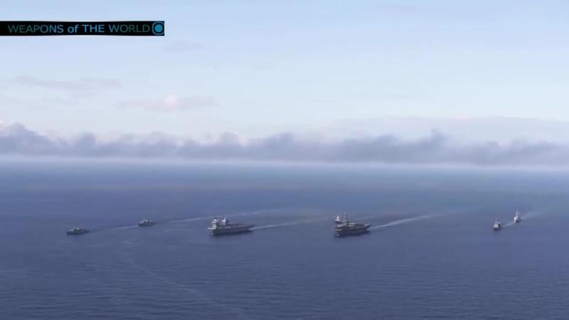 UK supercarrier hms queen elizabeth in action (all sea trial)
