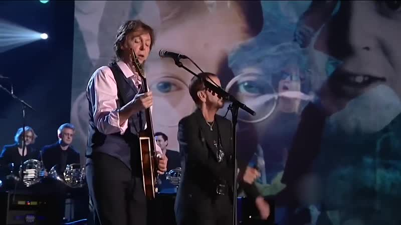 Paul McCartney and Ringo Starr Little Help From My Friends and Hey Jude Tribute to the Beatles night 2014