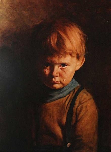 История одного шедевра. «Плачущий мальчик», Бруно Амадио 1950-е. Холст, масло. Частная коллекция Есть действительно «нехорошие» произведения живописи. Многие считают их даже проклятыми. И не без