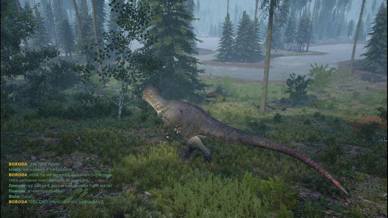 The Isle. Скучный патруль Allosaurus, возле болота2