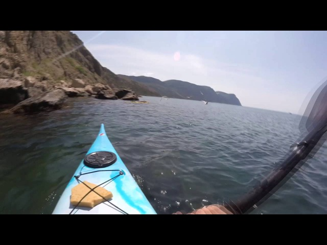 GoPro HERO LCD Sea Kayaking Crimea balaklava Крым 2016 Gopro 4 Kayak