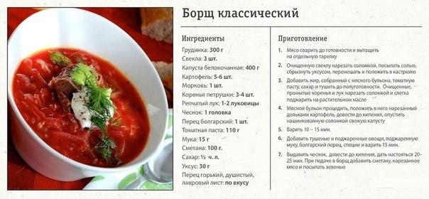 Как сварить красный борщ пошаговый рецепт с фото