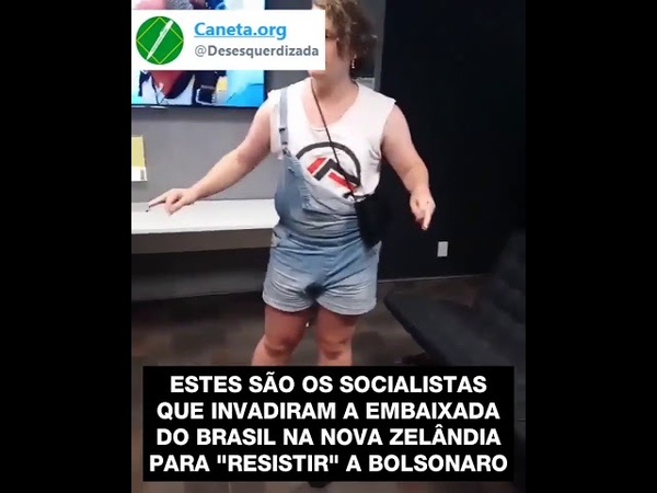 Bichona invade a embaixada brasileira na nova Zelândia pra falar merda