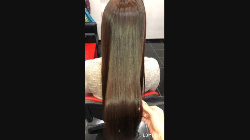 Нанопластика❤️Состав смыт 💦волос высушен без использования расчёски 💁🏻♀️