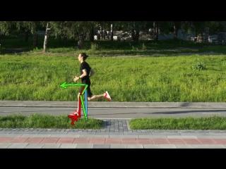 Видеоанализ техники бега Ермека