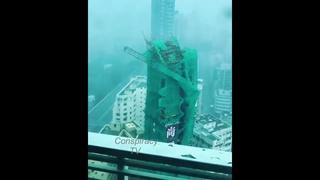 Super Typhoon Slams Cranes!! Mangkhut,Hong Kong,China 16.sept.2018