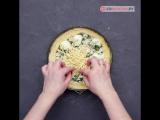 Пирог со шпинатом и яйцом.