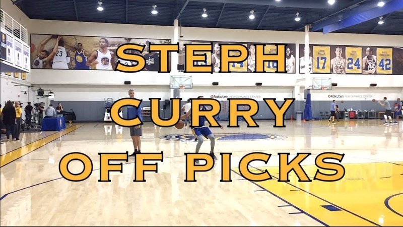 Steph Curry coming off picks including a stutter step