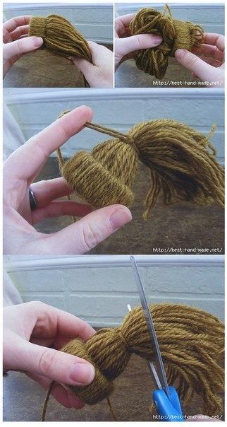 Как делать игрушки  из ниток