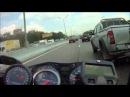 Парень на Suzuki Haybusa 1300 Turbo опаздывает на работу