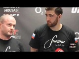 Ruslan Magomedov UFC Fight Night Berlin Post Media Fight Scrum