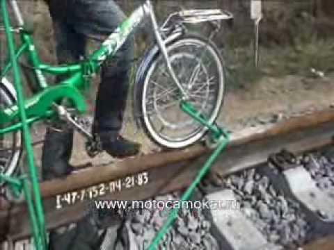 ВЕЛОДРЕЗИНА Кузнечик 2010 Railbike draisine motodraisine