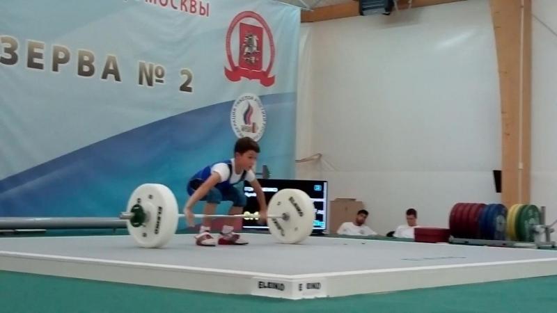 Артём Горбаченко-08 г/р-рывок кл.32 кг. Москва-28.09. Олимпийские Надежды кат.34 кг. (соб. вес 30.0)