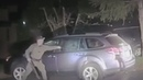 US police officer rescues bear trapped in car by smashing window