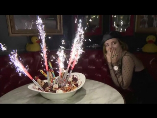 Bella thorne celebrates 21st birthday at sugar factory las vegas