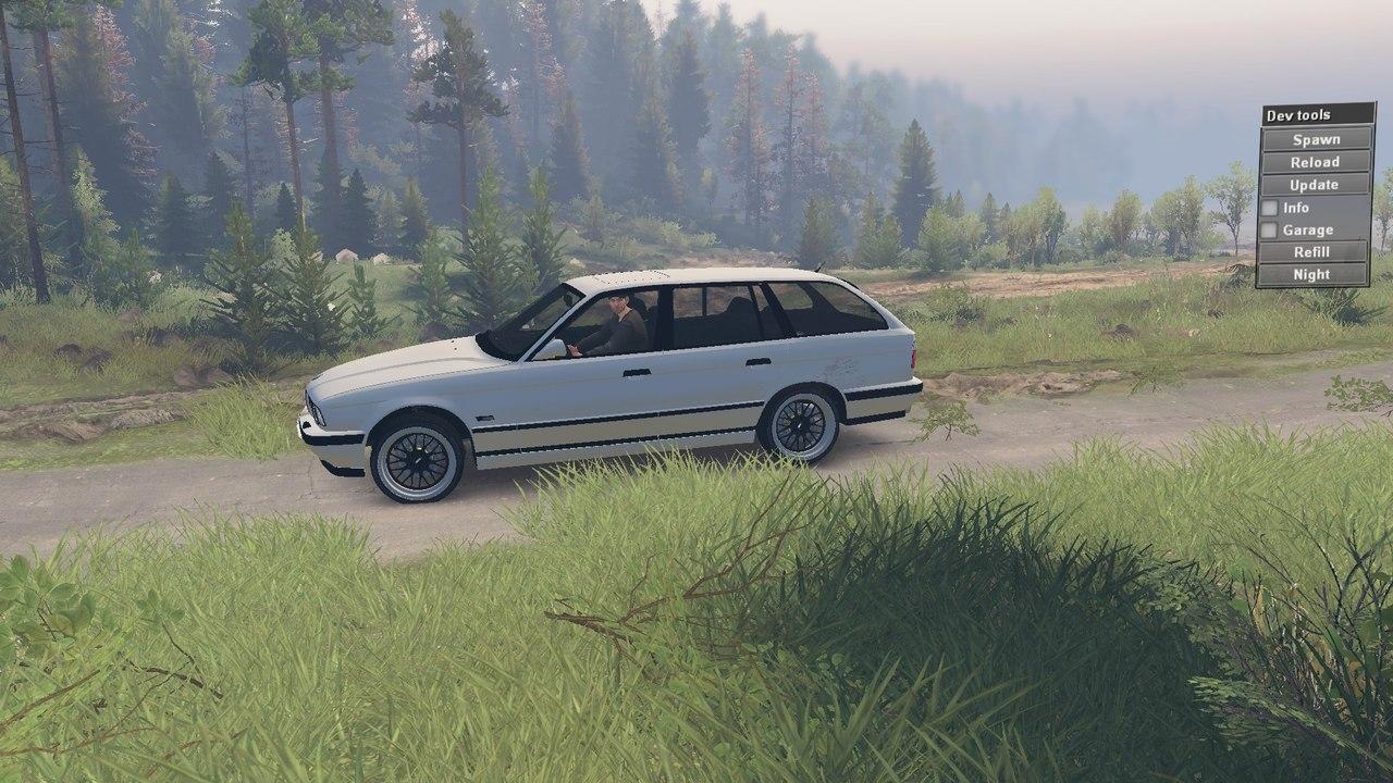 BMW e34 525iX для 23.10.15 для Spintires - Скриншот 3