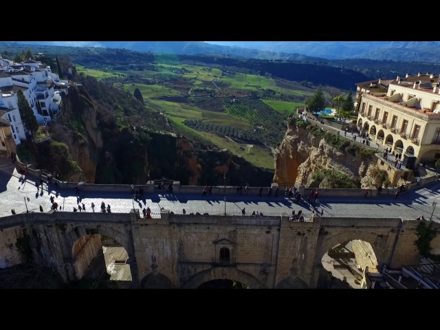 Puente Nuevo, Ronda, Andalusia, Spain (Malaga) - FullHD - Filmed with a drone 2017.